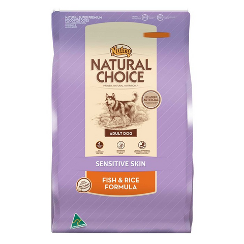 NUTRO NATURAL CHOICE SENSITIVE SKIN FISH & RICE - 3kg
