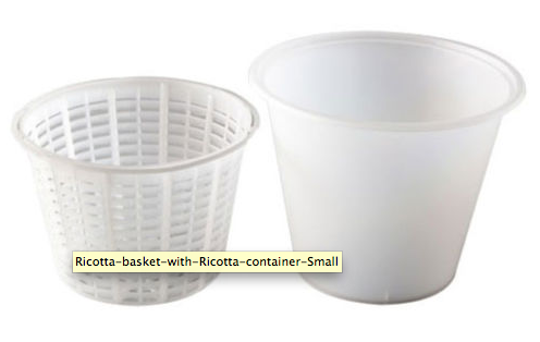 Ricotta Basket with Ricotta container - Small