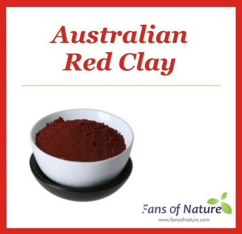 Red Reef Cosmetic Clay Powder -For Softening, Conditioning Mask or Hair Color