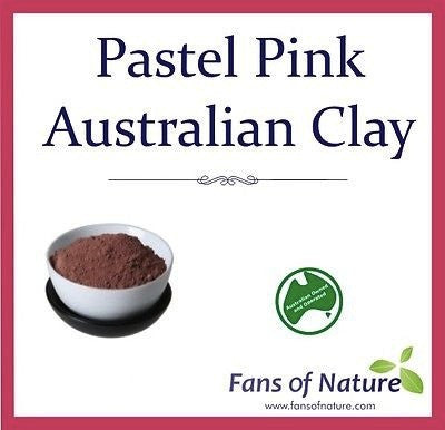 Pink Cosmetic Clay Powder - For Balancing, Youthful Appearance, Hydrating Mask