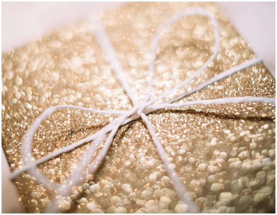 Golden gift card as a small token to give back