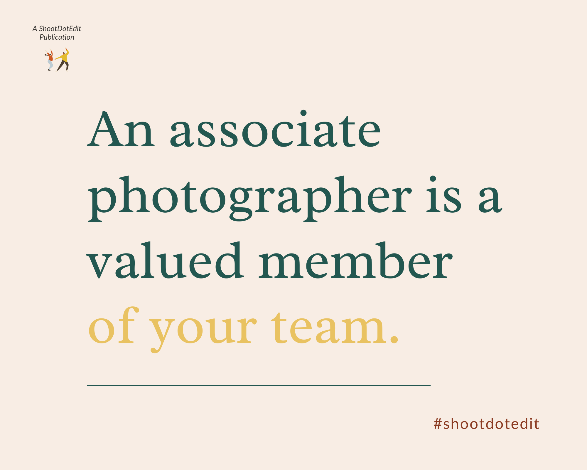 Infographic - An associate photographer is a valued member of your team