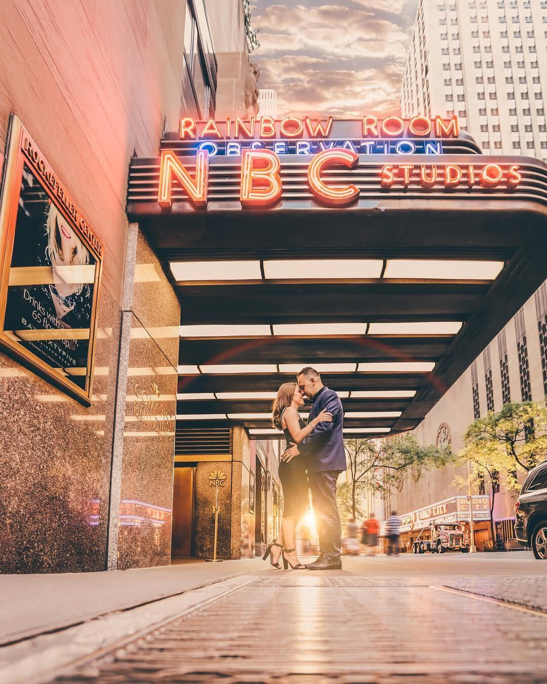 A couple engagement shoot captured by wedding photographer Orlando Oliveira in New York.