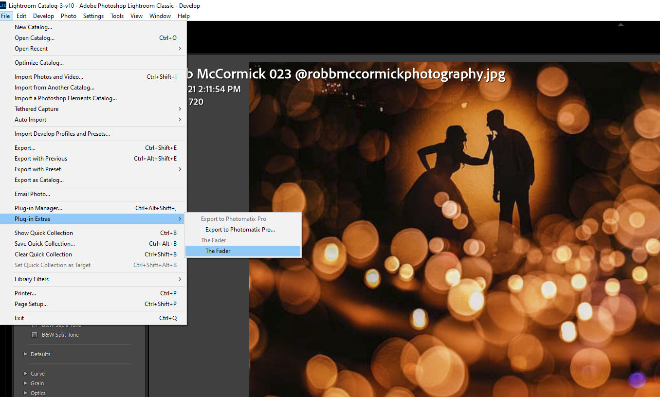 finding The Fader in Lightroom
