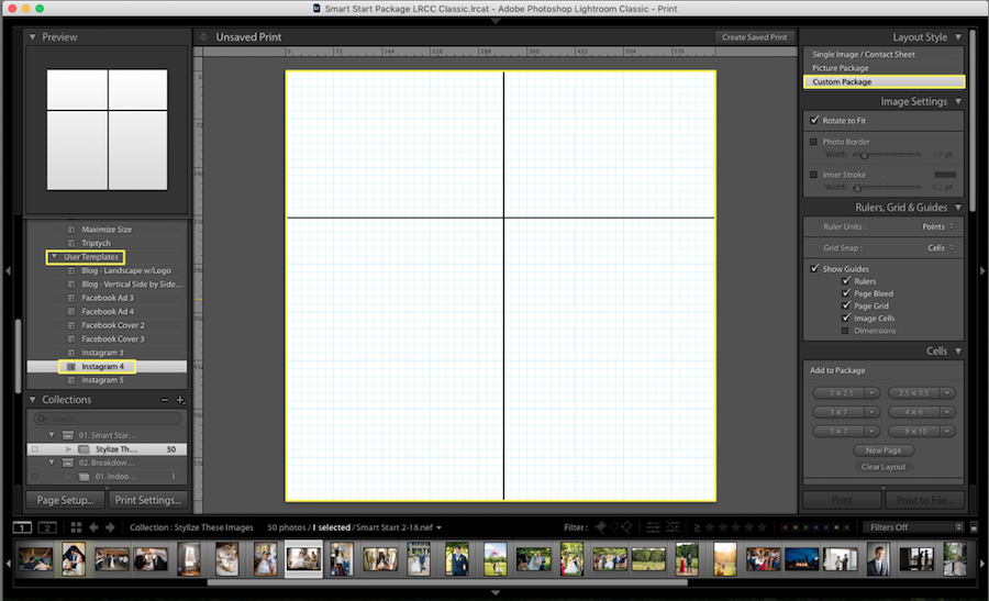 lightroom collage template add photos