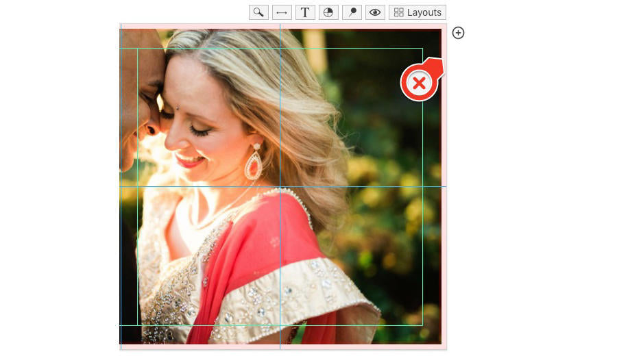 An image example by Style & Story Creative of a bride and groom in Fundy Designer's software.