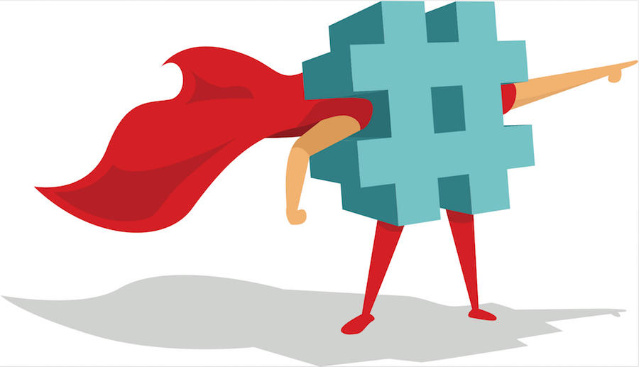 hashtag and red cape
