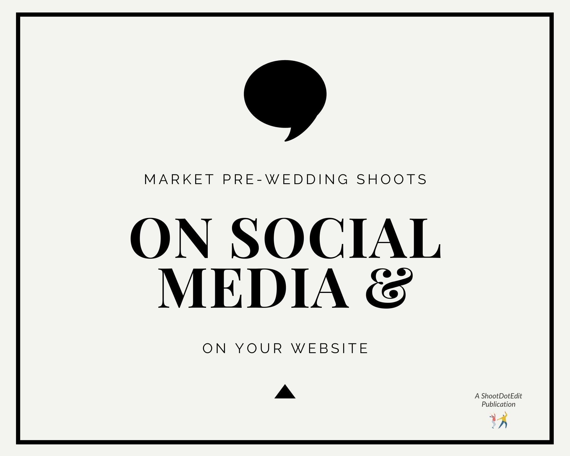 Infographic stating market these sessions on social media and on your website