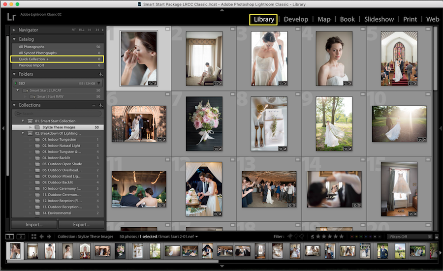 quick collections lightroom