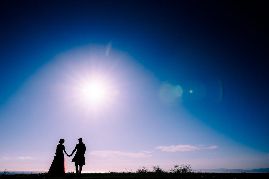 wedding photography silhouette