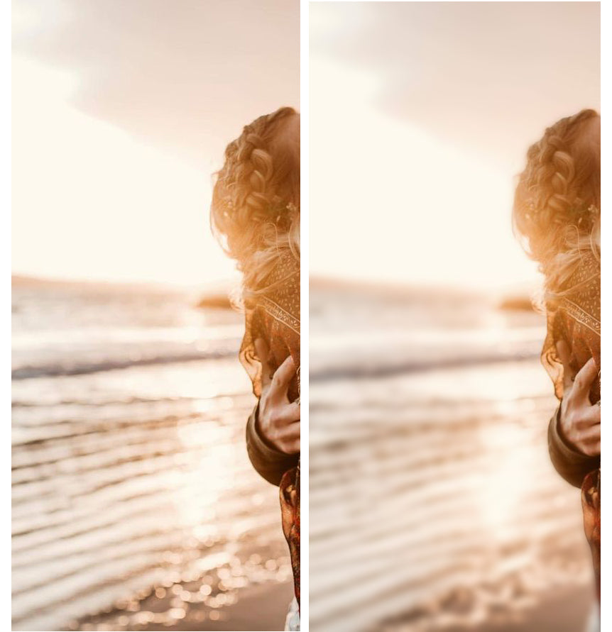 Removing chromatic aberration example before and after