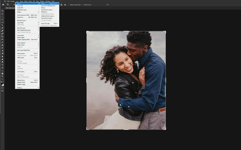 Adding a new layer in Photoshop