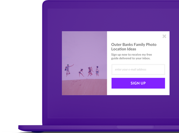 Sticky Marketing Tools sign up tab