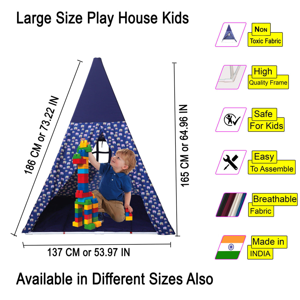 Trey Blue Color Kids Tent House Large Size