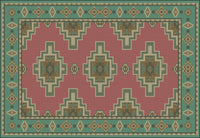Carpet Pattern Chart Dollhouse Miniature 1/12th Scale Needlepoint