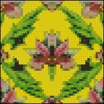 Cushion Pillow Pattern Chart Dollhouse Miniature 1/12th Scale Needlepoint