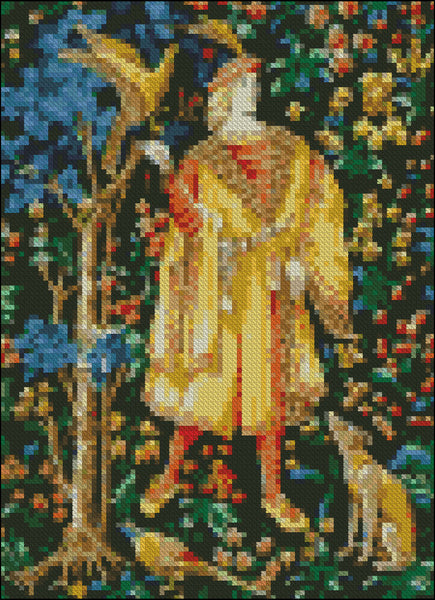 Cluny Tapestry Pattern Chart Dollhouse Miniature 1/12th Scale Needlepoint