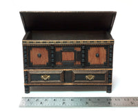 Dollhouse Miniature 1/12th Scale  Jacobean Chest