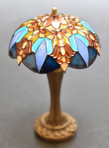 Custom Order Dollhouse Miniature Tiffany Stained Glass Lamp, 1/12 Scale Miniature Lighting