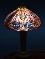 Unpainted Dollhouse Miniature Tiffany Stained Glass Lamp Kit, DIY 1/12 Scale Miniature Lighting