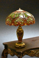 Custom Order for Dollhouse Miniature Tiffany Stained Glass Lamp, 1/12 Scale Miniature Lighting
