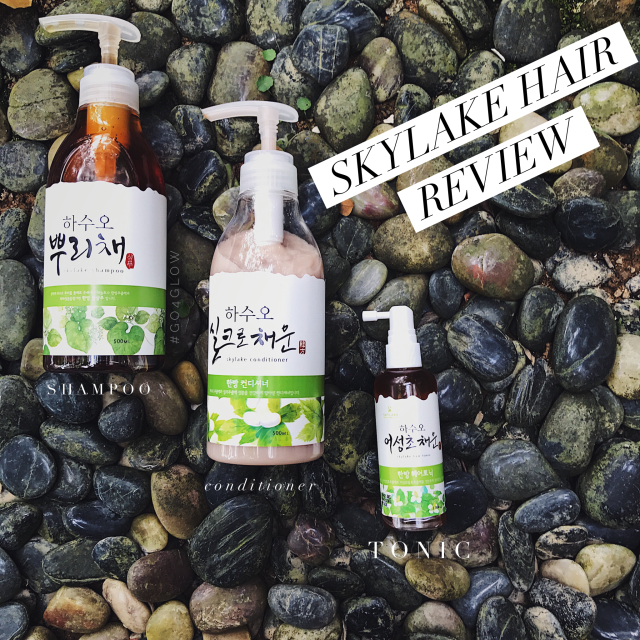 [GO4GLOW]: Korean indie brand Skylake hair tonic, shampoo and conditioner + amazing hair growth!