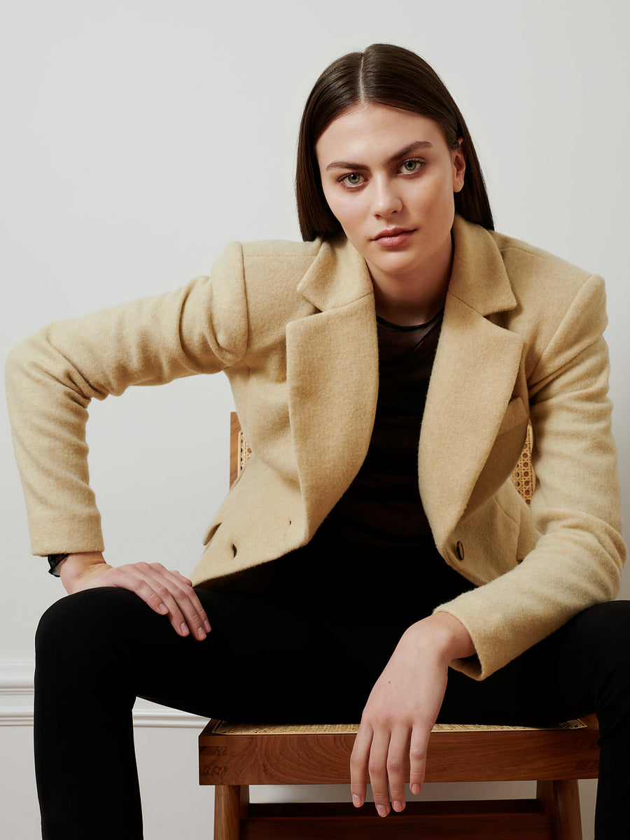 The Terry blazer is a tailored, slim fit blazer with strong shoulders