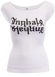 Ladies' White Fitted Tee