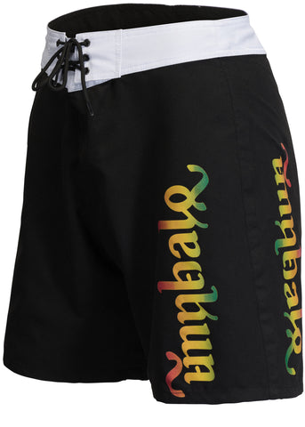 Men's Black & Rasta Surf Boardshorts