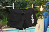Ladies' Black & White Surf Boardshorts