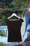 Ladies' Black Fitted Tee
