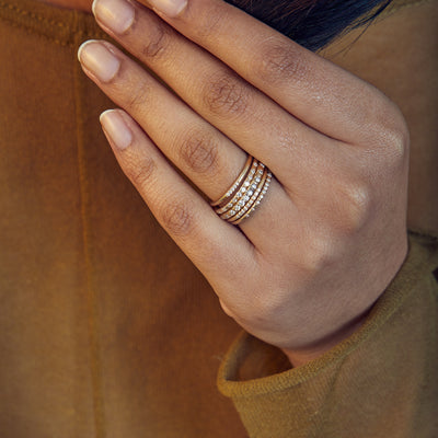 Linear Five Stone Pave Band