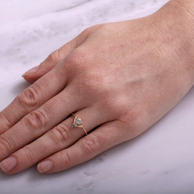 Limited Edition Small Nestled Green Sapphires Ring