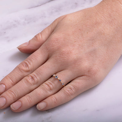 Limited Edition Large Four-Step Sapphire Ring