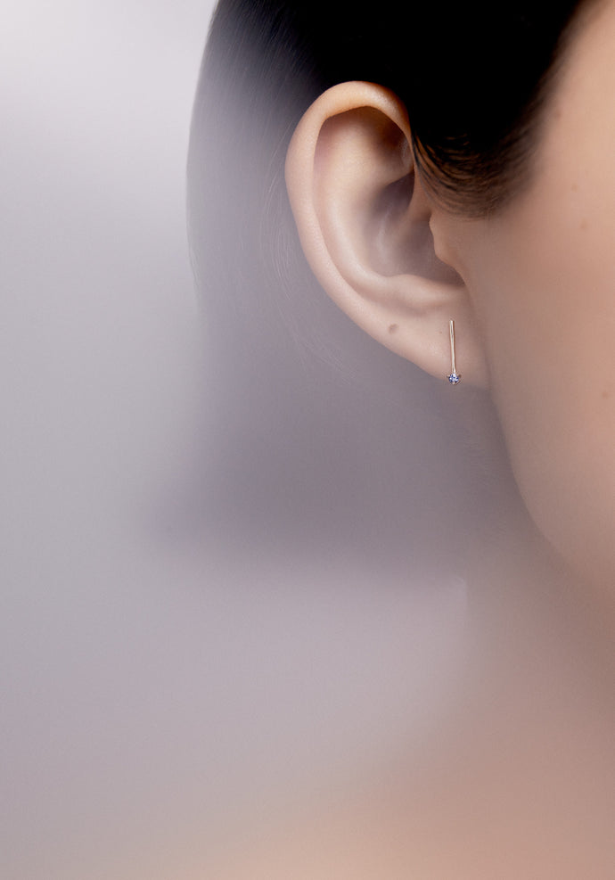 Tonal One-Step Bar Earrings
