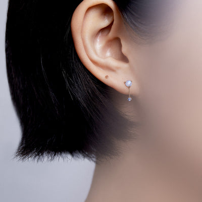 Tonal Large Two-Step Chain Earrings