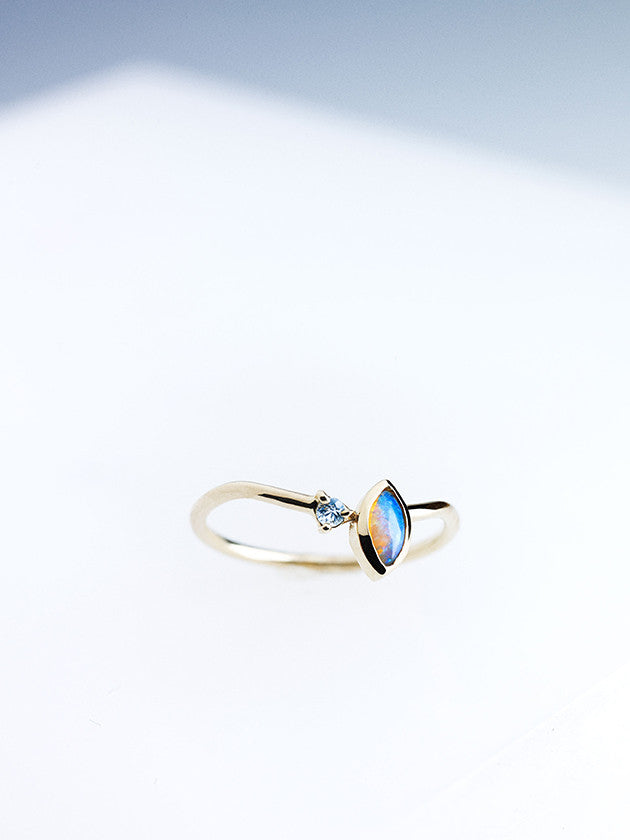 Angled Opal Ring