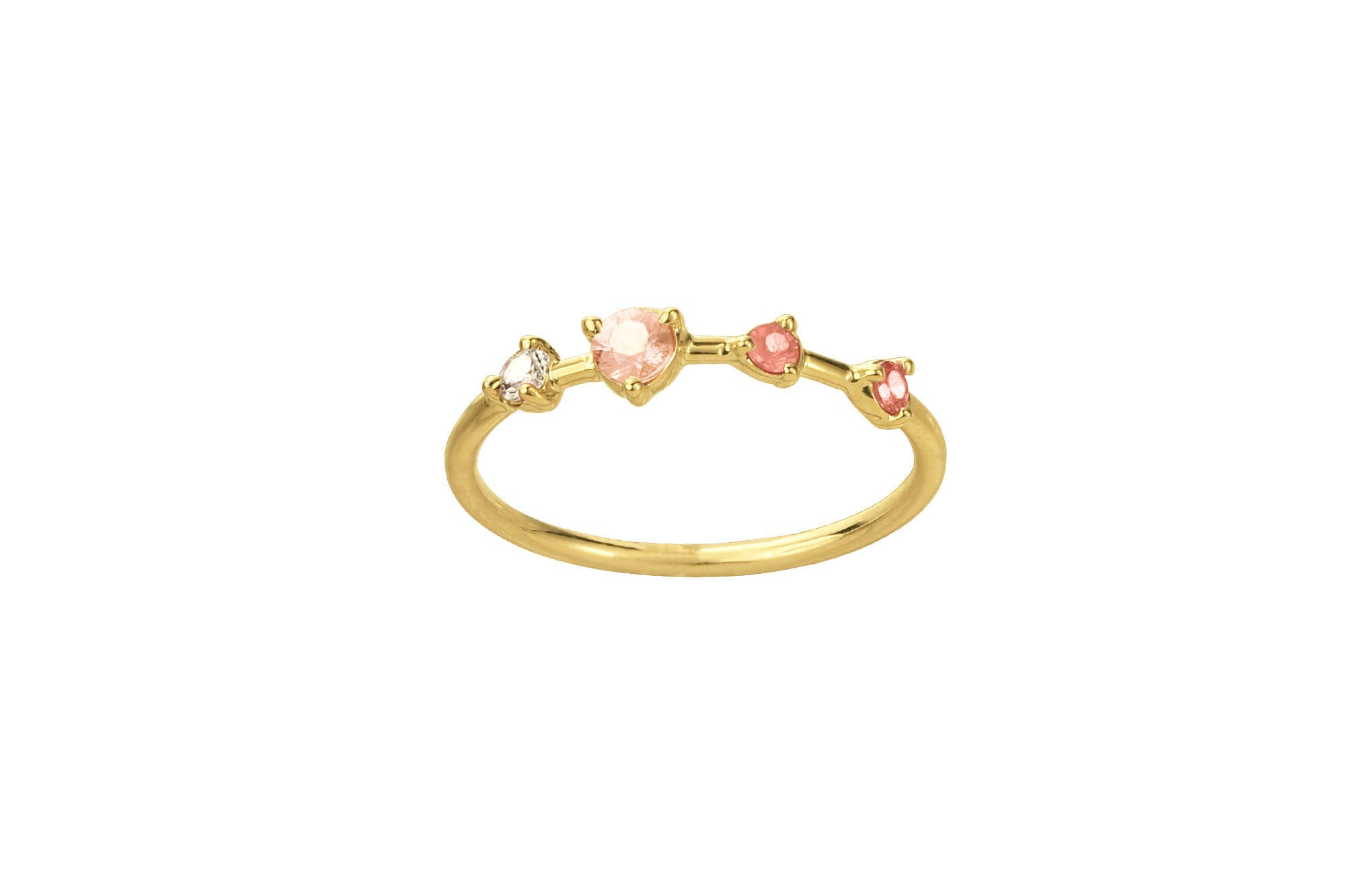 Blush Large Four-Step Gradient Ring