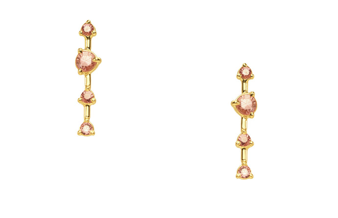 Blush Large Four-Step Earrings