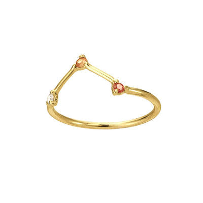 Blush Three-Step Triangle Ring
