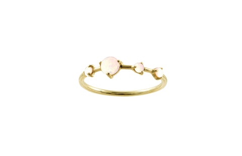 Blush Large Four-Step Opal Ring