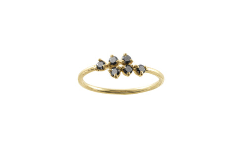 Black Diamond Mirrored Points Ring