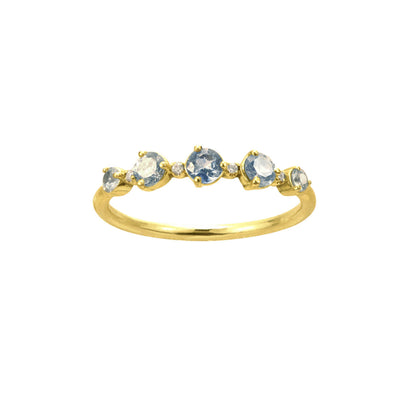 One of a Kind 18K Sapphire and Diamond Ring - Available at No.3