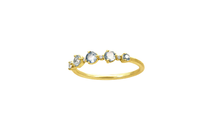 One of a Kind 18K Sapphire and Diamond Ring