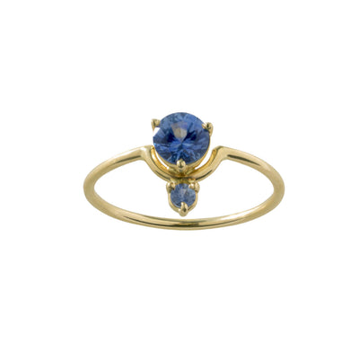 One of a Kind Medium Nestled Sapphires Ring