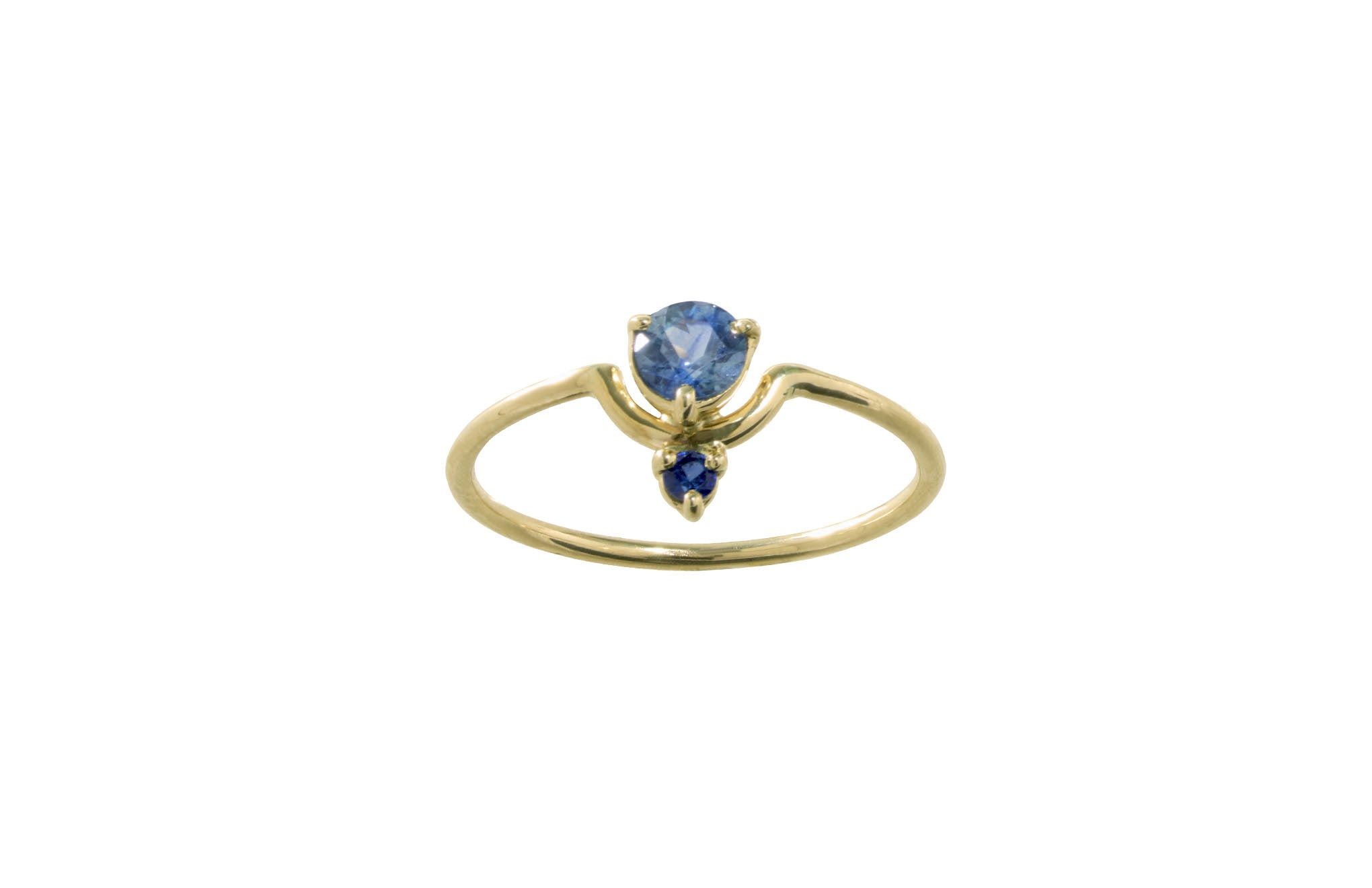 ring engagement sapphire blue natural gold light halo rings in pink white luxury of