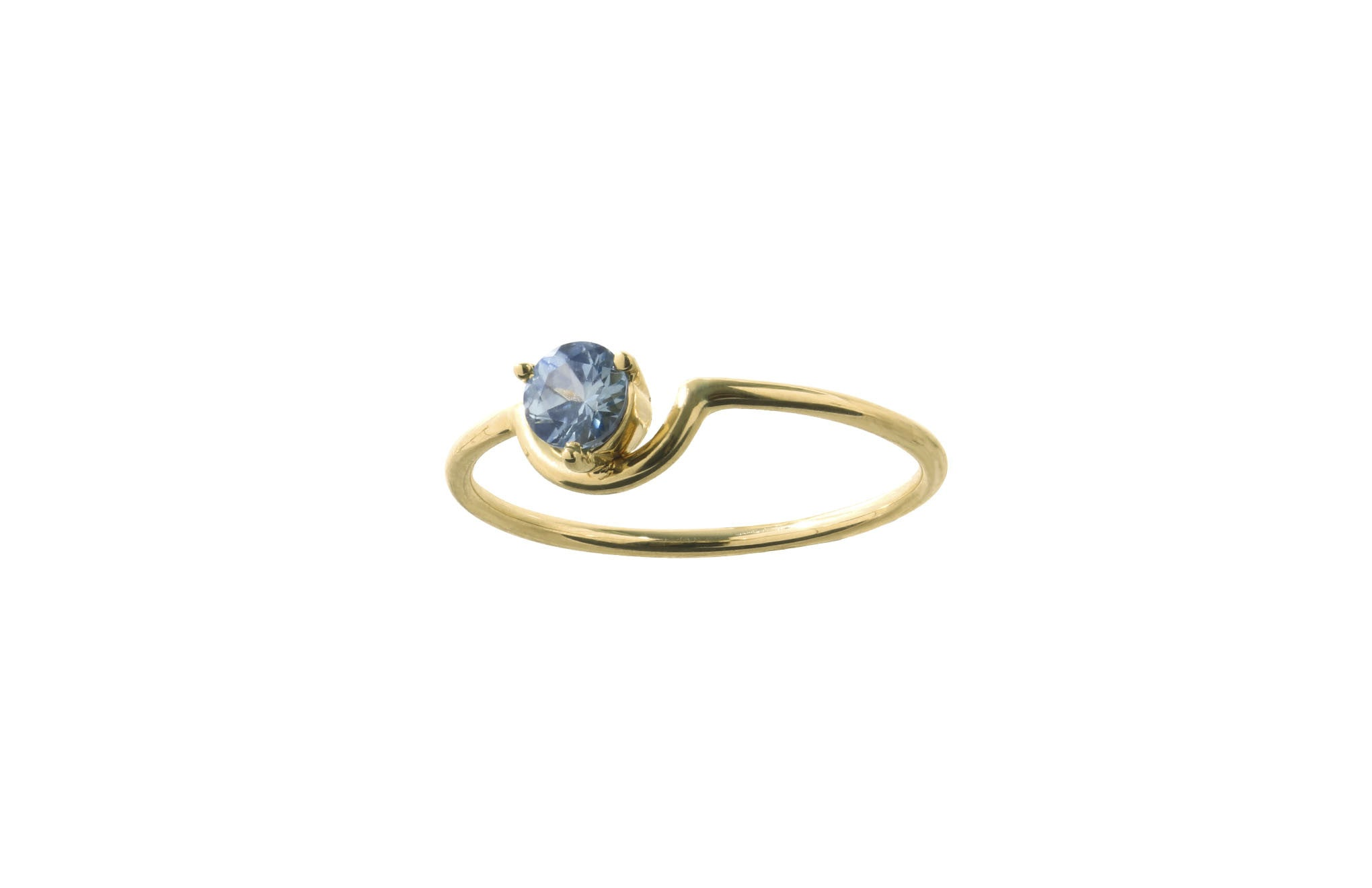 large sapphire a kind blue loading light ring moda of tito pedrini by operandi one