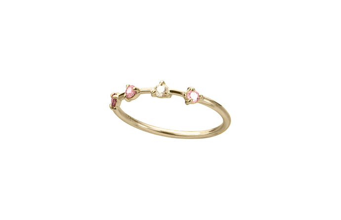 Limited Edition Pink Sapphire Four-Step Ring