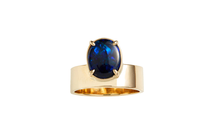 One of a Kind Monolith Ring 1 - Black Opal