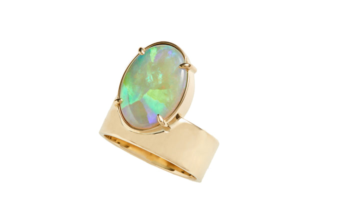 One of a Kind Monolith Ring 2 - Opal